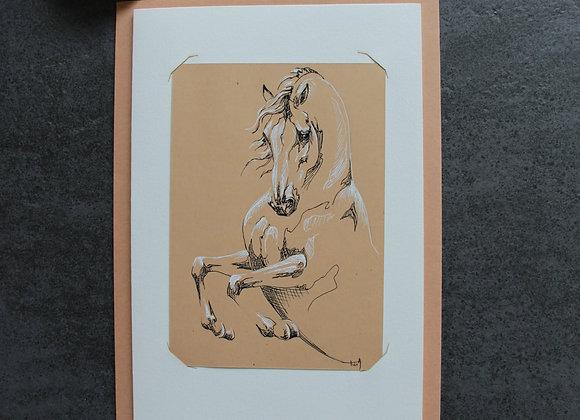 """""""OEUVRE 14"""" Encres sur papier by LAETITIA PLINGUET"""