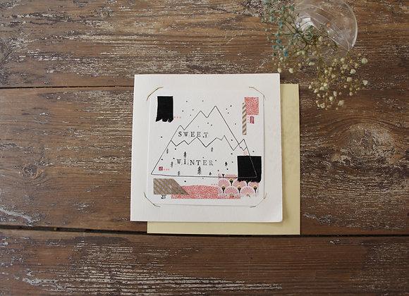 """SWEET WINTER"" Encre et collage by JULIE DE TERSSAC"