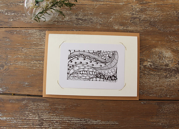"""""""STRATES"""" Zentangle by JO & LIBELLULES"""