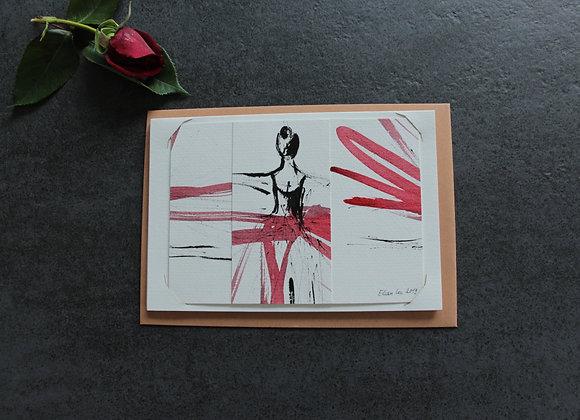 """""""COMPOSITION II"""" Dessin à l'encre et collage by MARCELA ZEMANOVA"""