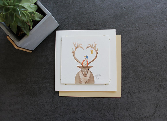 """HIBOU RENNE"" Aquarelle by MARJOLINE FLEUR"