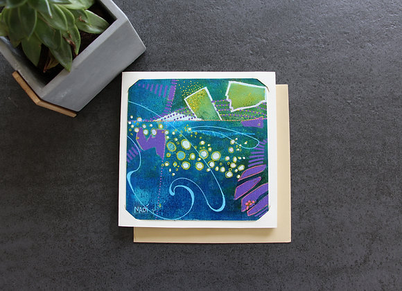 """""""MARÉE HAUTE A CAP FERRET"""" Peinture acrylique by NADI"""