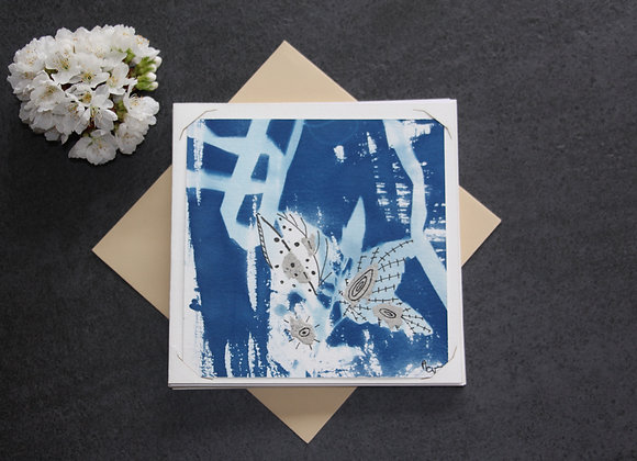 """OEUVRE 68"" Cyanotype et dessin by MCV"