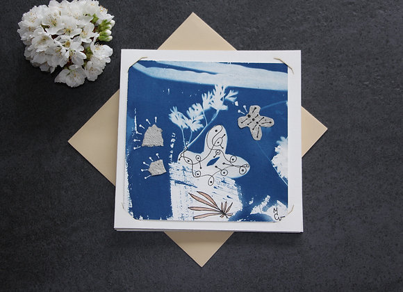 """OEUVRE 71"" Cyanotype et dessin by MCV"