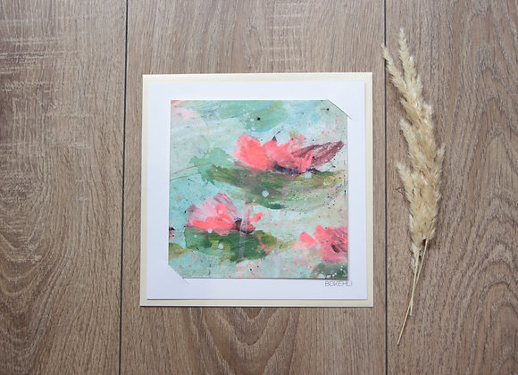 """WATERLILIES #13"" Peinture de ESTELLE SERE"