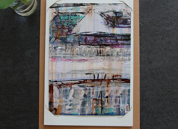 """""""BORDEAUX BLUE 6"""" Oeuvre by ART KELLY ALLISON"""