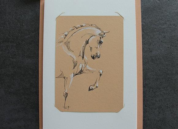 """""""OEUVRE 11"""" Encres sur papier by LAETITIA PLINGUET"""