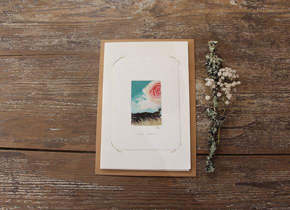 """""""SUN FLOWER"""" Mixed media by ELISABETH CARLI"""