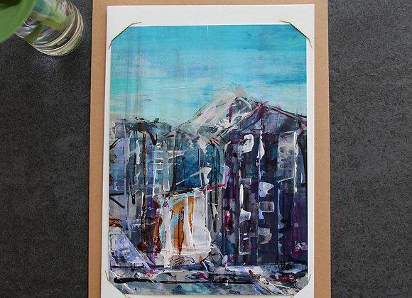 """""""BORDEAUX BLUE 3"""" Oeuvre by ART KELLY ALLISON"""