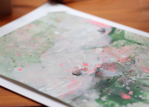 """WATERLILIES #21"" Peinture de ESTELLE SERE"