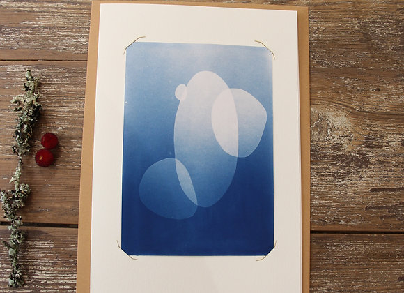 """""""GALETS I"""" Cyanotype by LES PAPIERS BLEUS"""