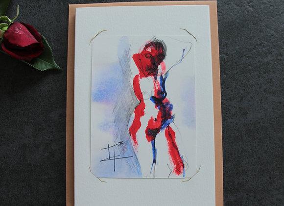 """""""OEUVRE 11""""Acrylique et encre by  MARIE COLIGNON"""