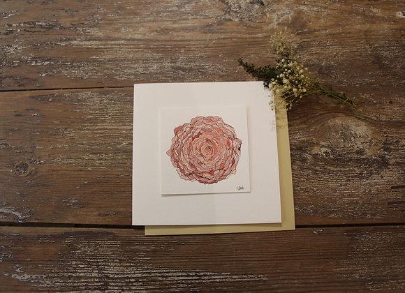 """""""FLEUR ROSE 1""""Dessin à l'encre et aquarelle by LAURENCE BUCOURT"""