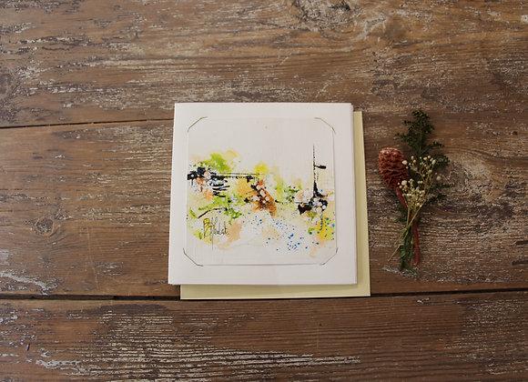 """""""COMPO 133-2"""" Encre de chine et encre aquarelle by BERNARD NEULAT"""