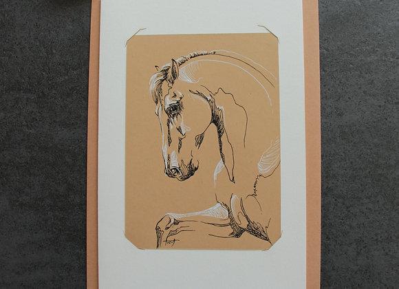 """""""OEUVRE 10"""" Encres sur papier by LAETITIA PLINGUET"""