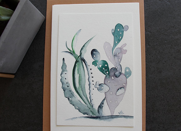 """CACTUS 2"" Aquarelle by VÉRONIQUE GRAVIER"