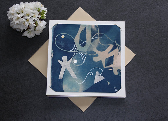 """""""OEUVRE 73"""" Cyanotype et dessin by MCV"""