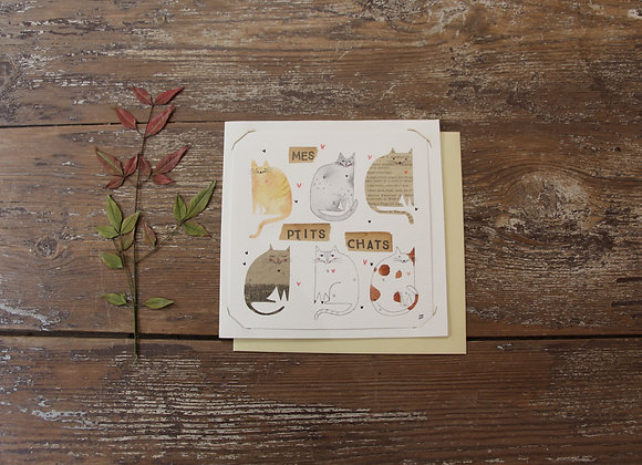 """""""PETITS CHATS"""" Aquarelle et collage by JULIE DE TERSSAC"""
