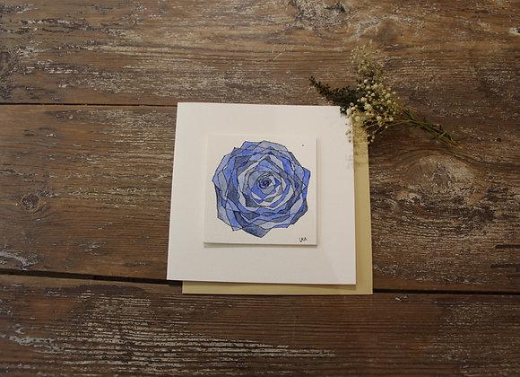 """""""FLEURS BLEUE 1"""" Dessin à l'encre et à l'aquarelle by LAURENCE BUCOURT"""