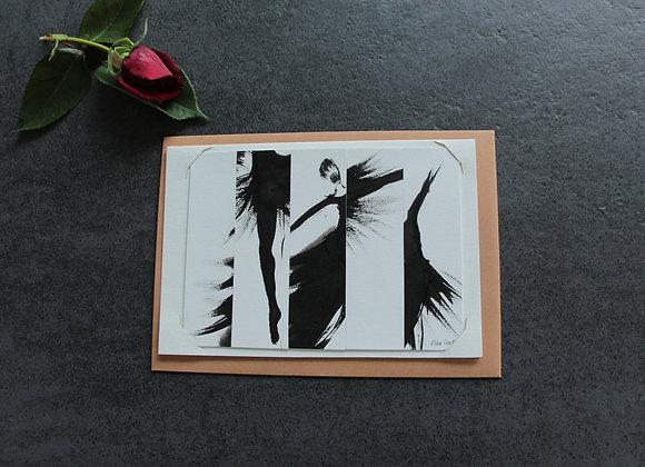 """""""COMPOSITION I"""" Dessin encre et collage by MARCELA ZEMANOVA"""