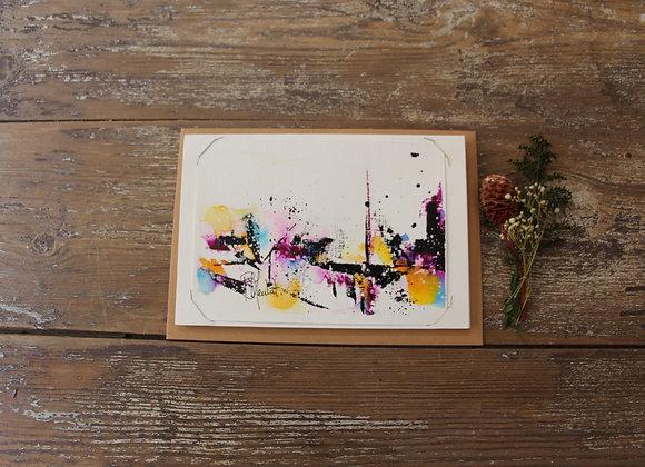 """""""COMPO 138-4"""" Encre de chine et encre aquarelle by BERNARD NEULAT"""