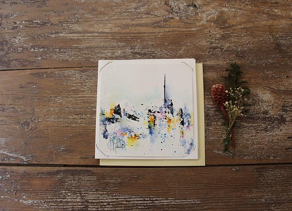 """""""COMPO 155-2"""" Encre de chine et encre aquarelle by BERNARD NEULAT"""