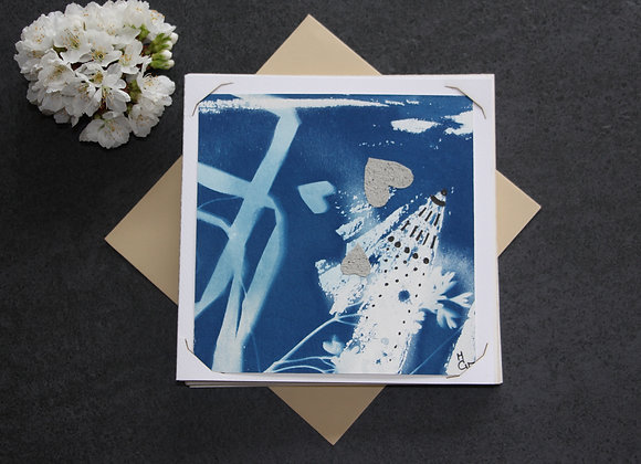 """OEUVRE 63"" Cyanotype et dessin by MCV"