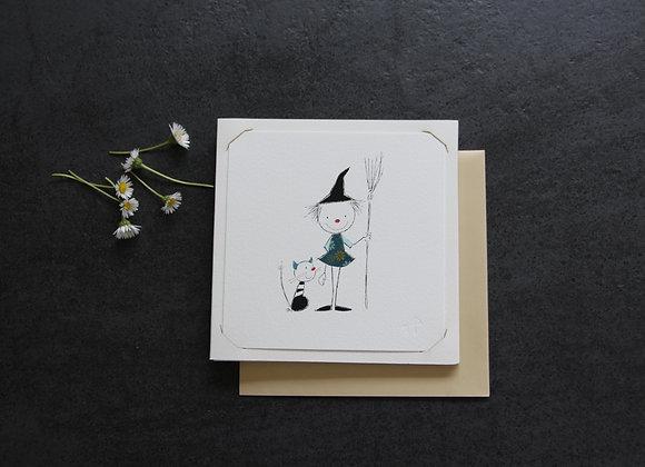 """PETITE SORCIÈRE 8""Dessin by CATHERINE CHAUVIRE"