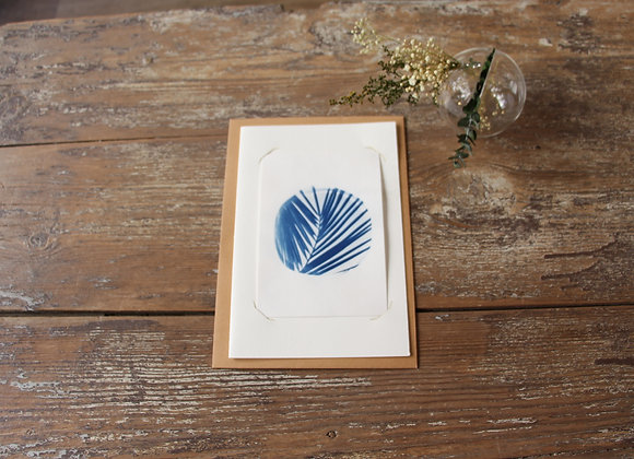 """FEUILLE DE PALMIER"" Photo cyanotype by LES PAPIERS BLEUS"