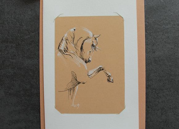 """""""OEUVRE 18"""" Encres sur papier by LAETITIA PLINGUET"""