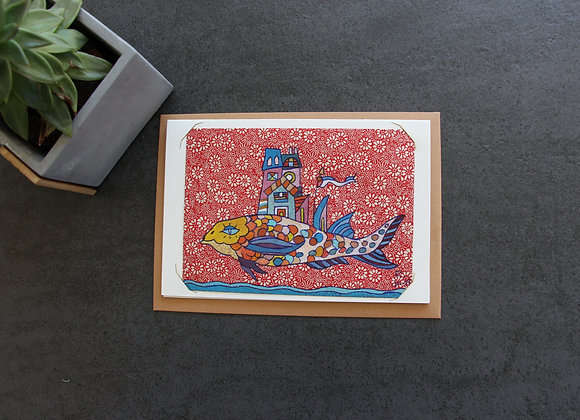 """""""OEUVRE 18"""" Gouache by RIBIERE"""