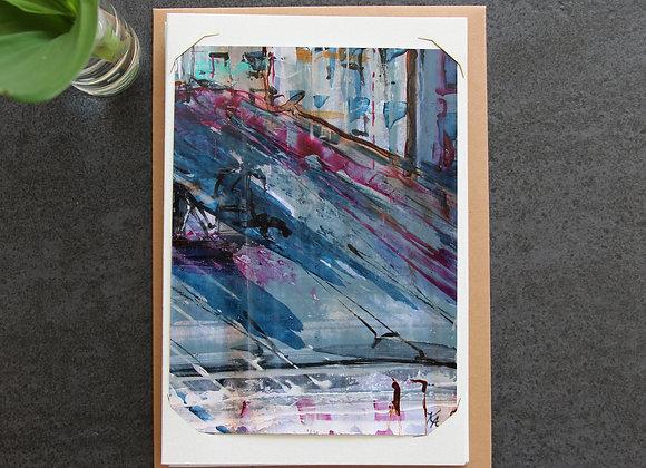 """""""BORDEAUX BLUE 10"""" Oeuvre by ART KELLY ALLISON"""