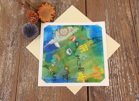 """"""" LES COTONNIERS EN FLEURS"""" Peinture by NADI"""