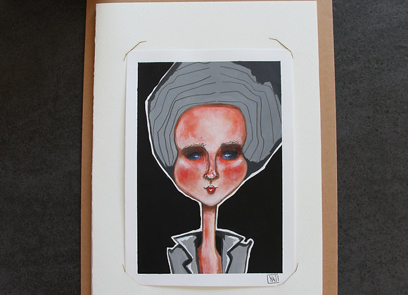 """""""MILA""""Peinture, collage et feutre by YAI"""