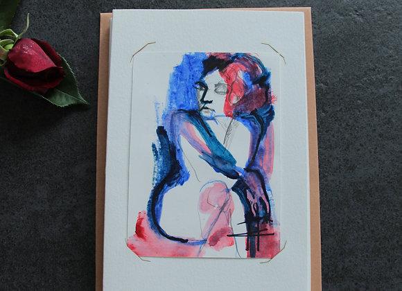 """""""OEUVRE 12"""" Encre, crayon et aquarelle by MARIE COLIGNON"""