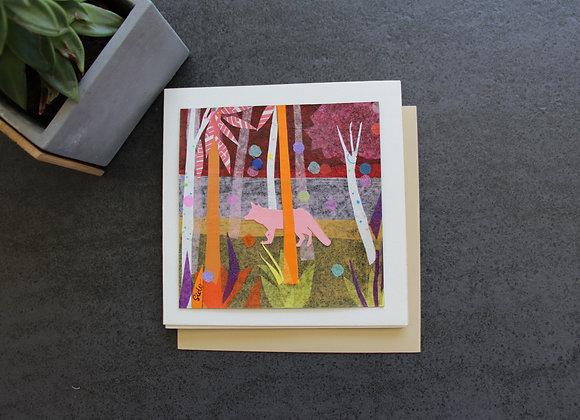 """""""DANS LES SOUS BOIS"""" Collage sur papier by SIDO"""