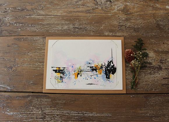 """""""COMPO 138-5"""" Encre de chine et encre aquarelle by BERNARD NEULAT"""