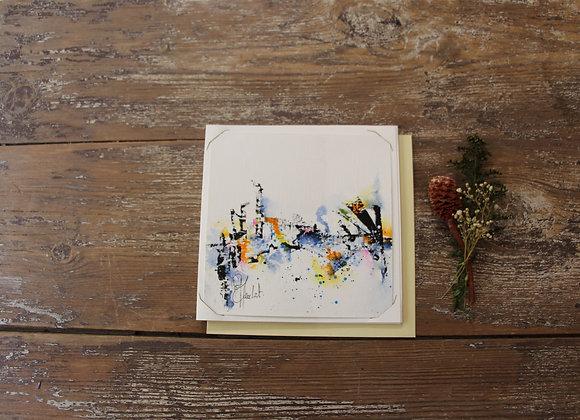 """""""COMPO 155-3"""" Encre de chine et encre aquarelle by BERNARD NEULAT"""