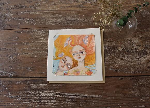 """""""COPINES N°2"""" Aquarelle et feutre by IRINCHE"""