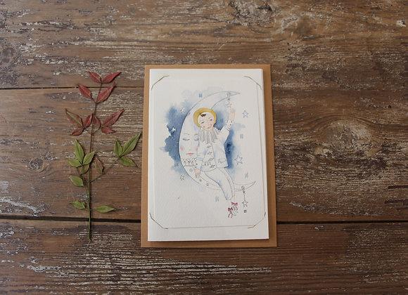 """""""MON AMI PIERROT"""" Aquarelle by JULIE DE TERSSAC"""