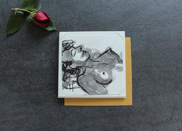 """""""OEUVRE 15"""" Encre et fusain by MARIE COLIGNON"""