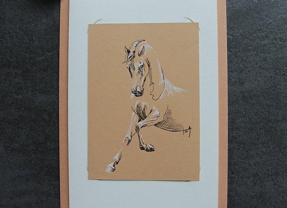 """""""OEUVRE 22"""" Encres sur papier by LAETITIA PLINGUET"""