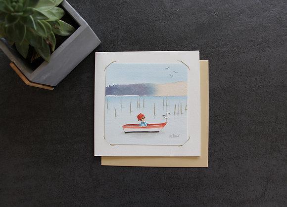 """""""ANATOLE EN GONDOLE"""" Aquarelle by MARJOLINE FLEUR"""