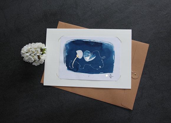 """OEUVRE 27"" Cyanotype by M.C.VALENTINE"