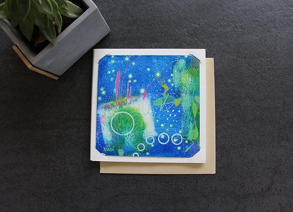 """""""BUBBLES"""" Peinture acrylique by NADI"""
