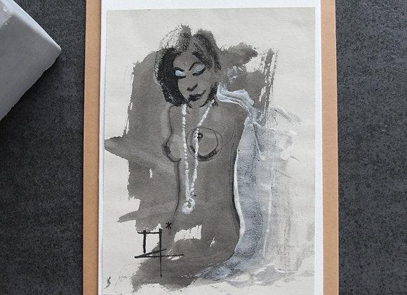 """""""OEUVRE 1"""" Fusain, encre et acrylique by MARIE COLIGNON"""