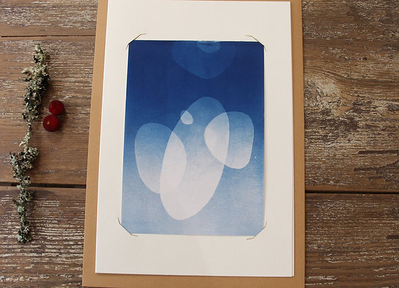 """GALETS III"" Cyanotype by LES PAPIERS BLEUS"