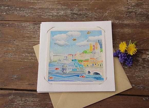 """""""BORDEAUX RIVE DROITE"""" Aquarelle by NAT BROSS"""