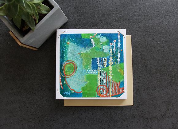 """""""NAVIGUER ENTRE LES PIQUETS"""" Peinture acrylique by NADI"""