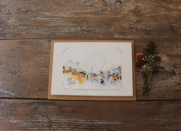 """""""COMPO 105-4""""Encre de chine et encre aquarelle by BERNARD NEULAT"""